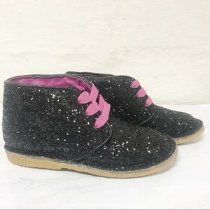 NWOT Cole Haan City Chukka Black Sparkly Boots